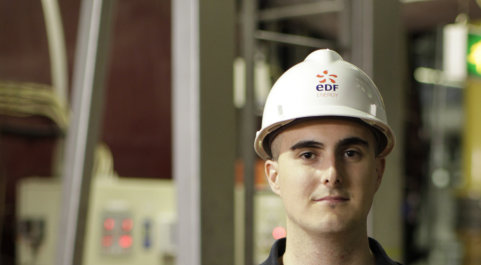 Student working at EDF