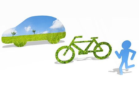 Go green concepts of transport