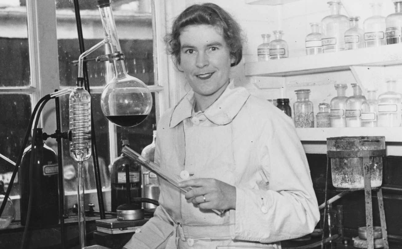 Greta Stevenson in the lab