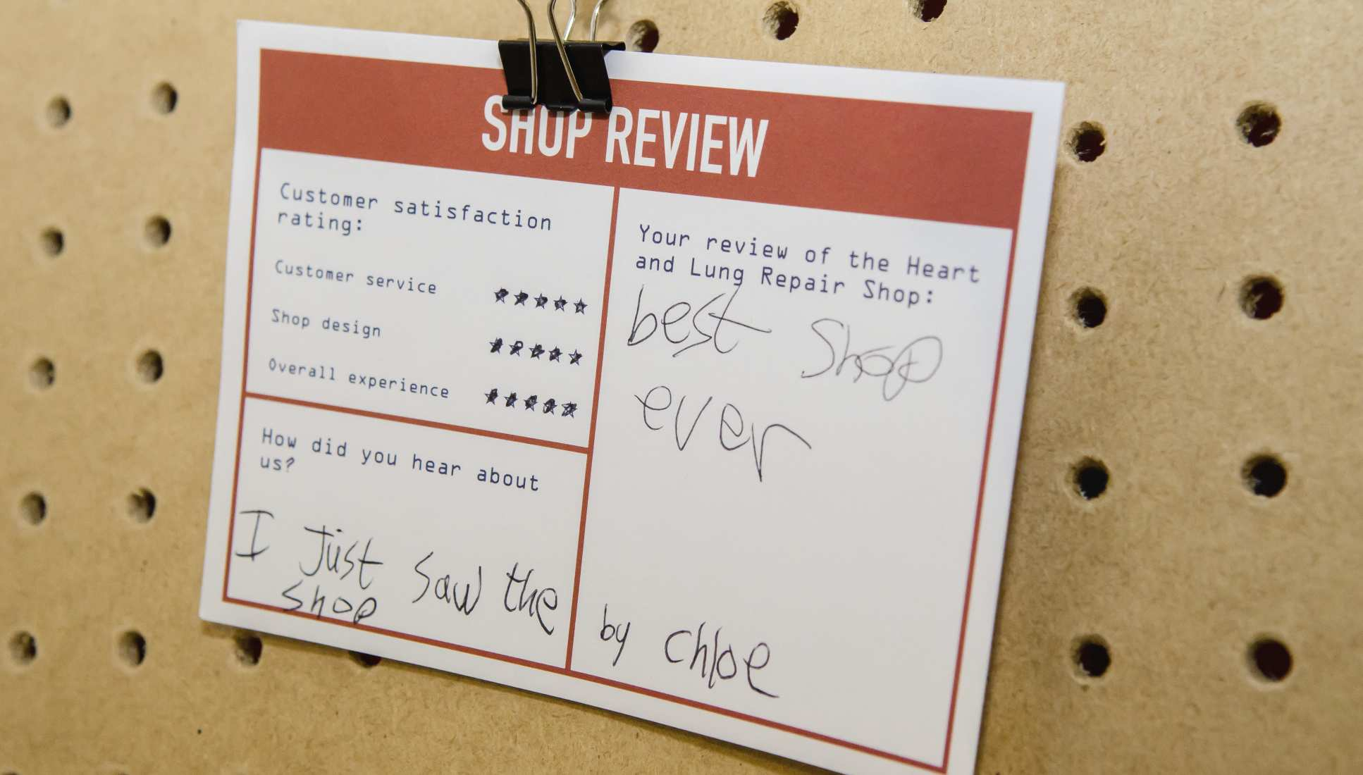 Feedback card reads 'best shop ever'