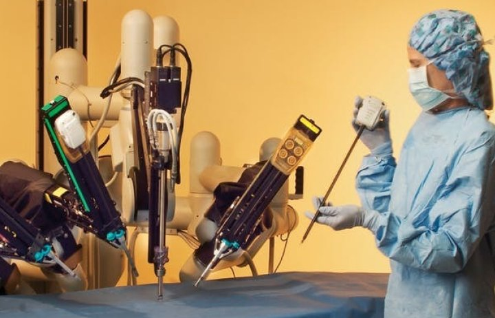 Various robotic arms being tested by an academic