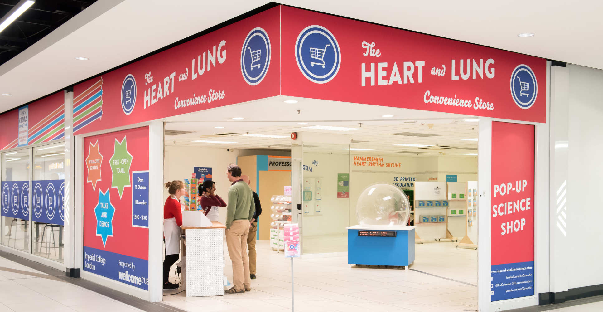 Exterior heart and lung convenience store