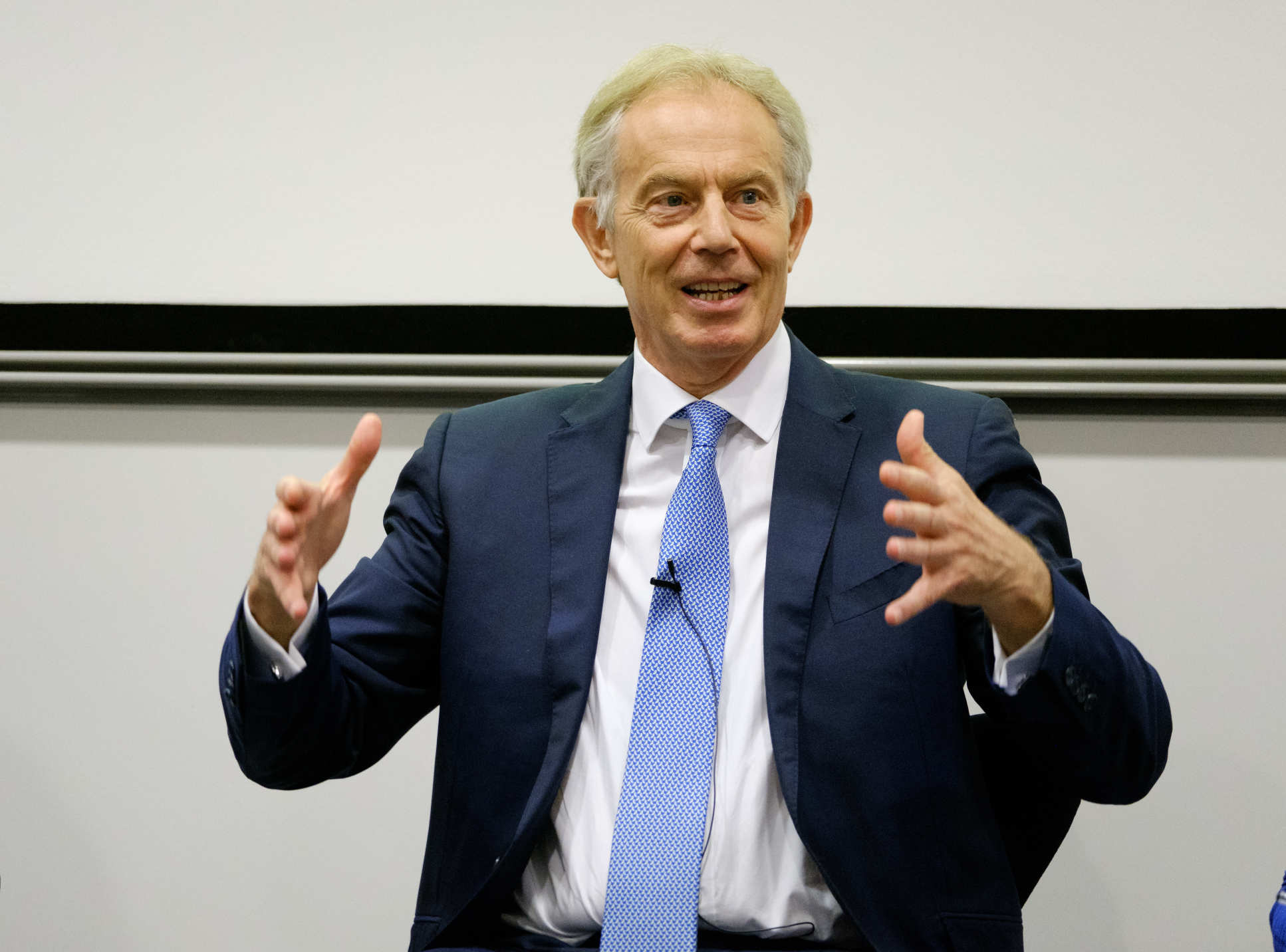 "Speaking on a panel during the event, Mr Blair said: ""The challenge for the NHS is to stay true to its principles but be under a constant state of change and modernization"""