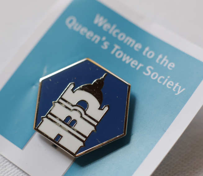 Queen's tower society badge