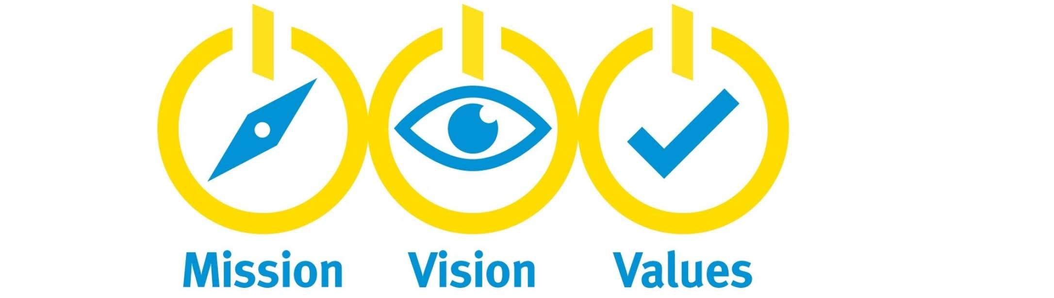values mision vision Our foundation the university of san diego has crafted a mission statement and core values that help articulate the common ground upon which its principles and.