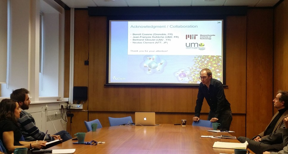 Remco Hartkamp giving us a seminar on Molecular Modelling