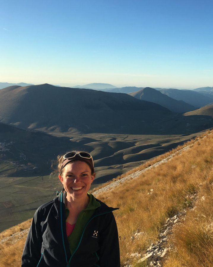 Laura Gregory in Italy for Earth Science Fieldwork