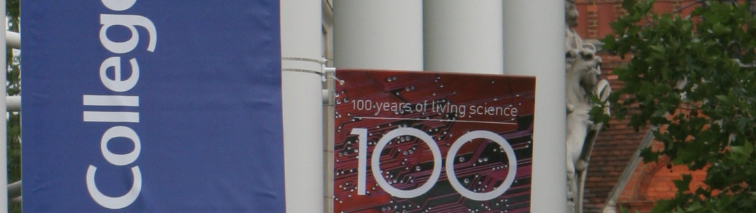 Imperial College centenary banners