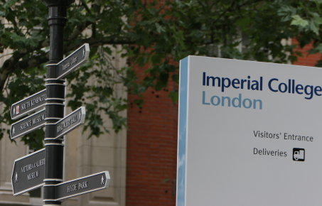 Imperial College sign posts