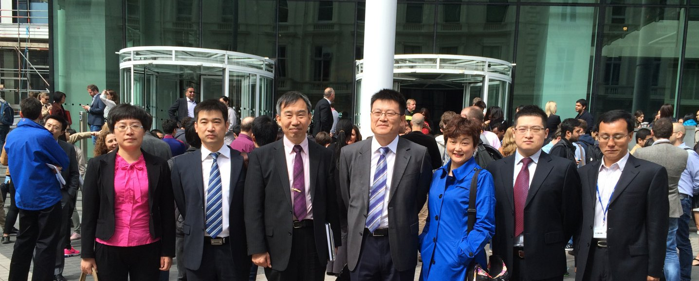AVIC group photo in front of Imperial College