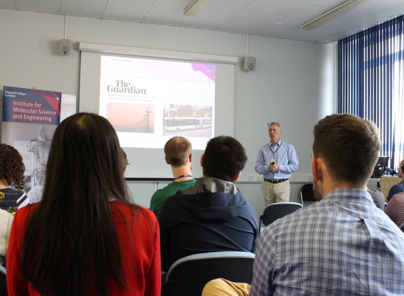 Professor Jason Riley gives an IMSE Lunchtime Seminar