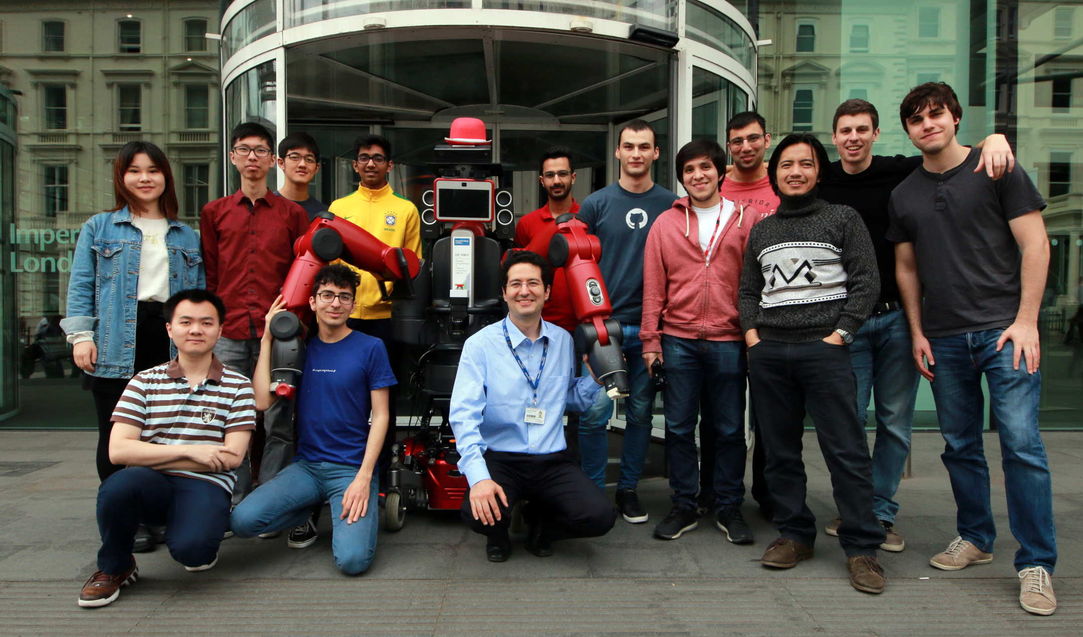 Group photo at Robot Intelligence Lab