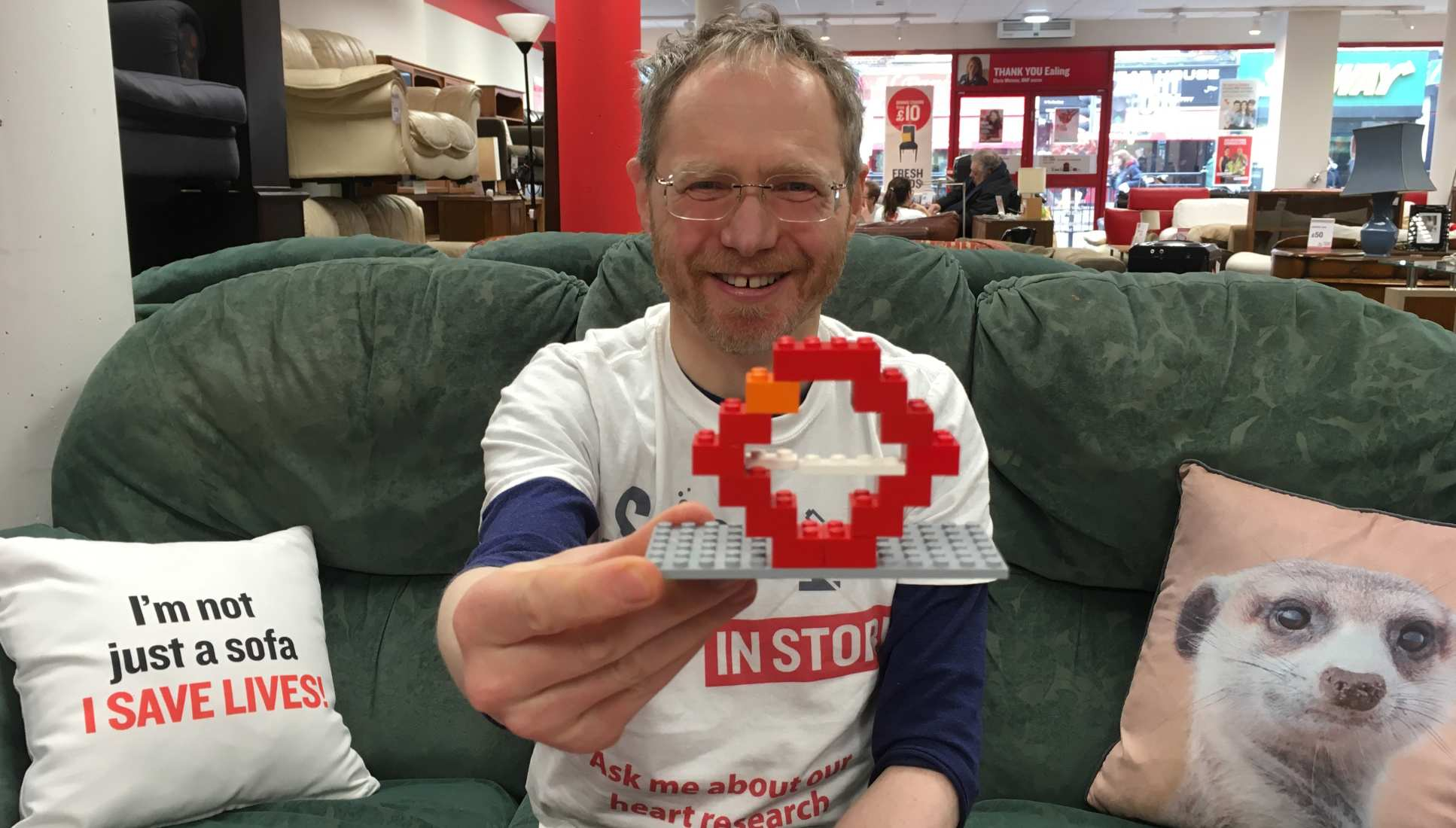 Researcher with lego blood vessel