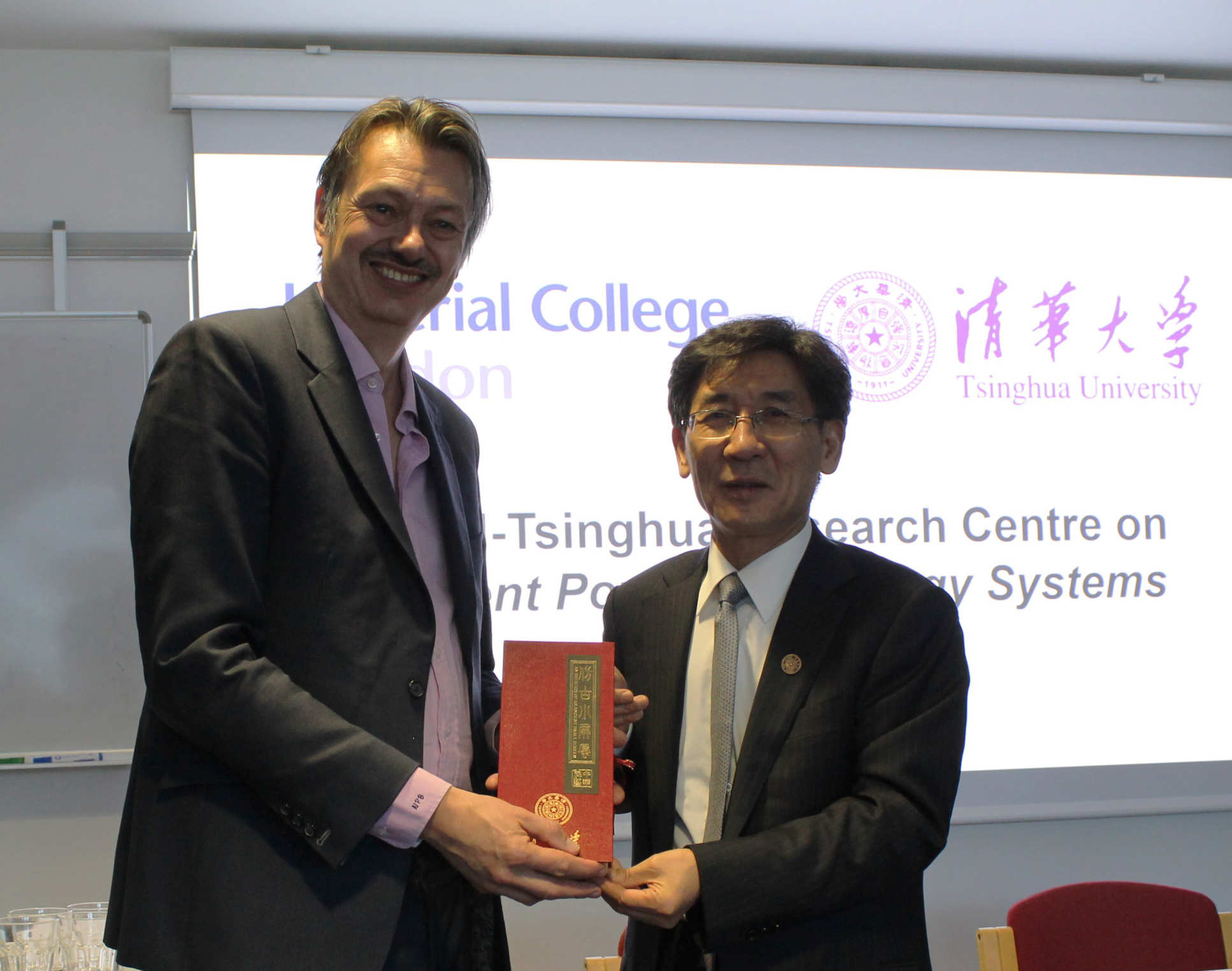Professor Nigel Brandon, Dean of Engineering, Imperial College London, and  Vice President Qikun Xue, Vice President for Research, Tsinghua University