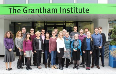 Grantham Institute staff pose for a group photo