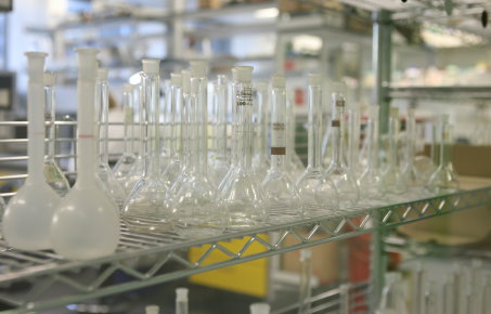 Imperial College laboratory flasks