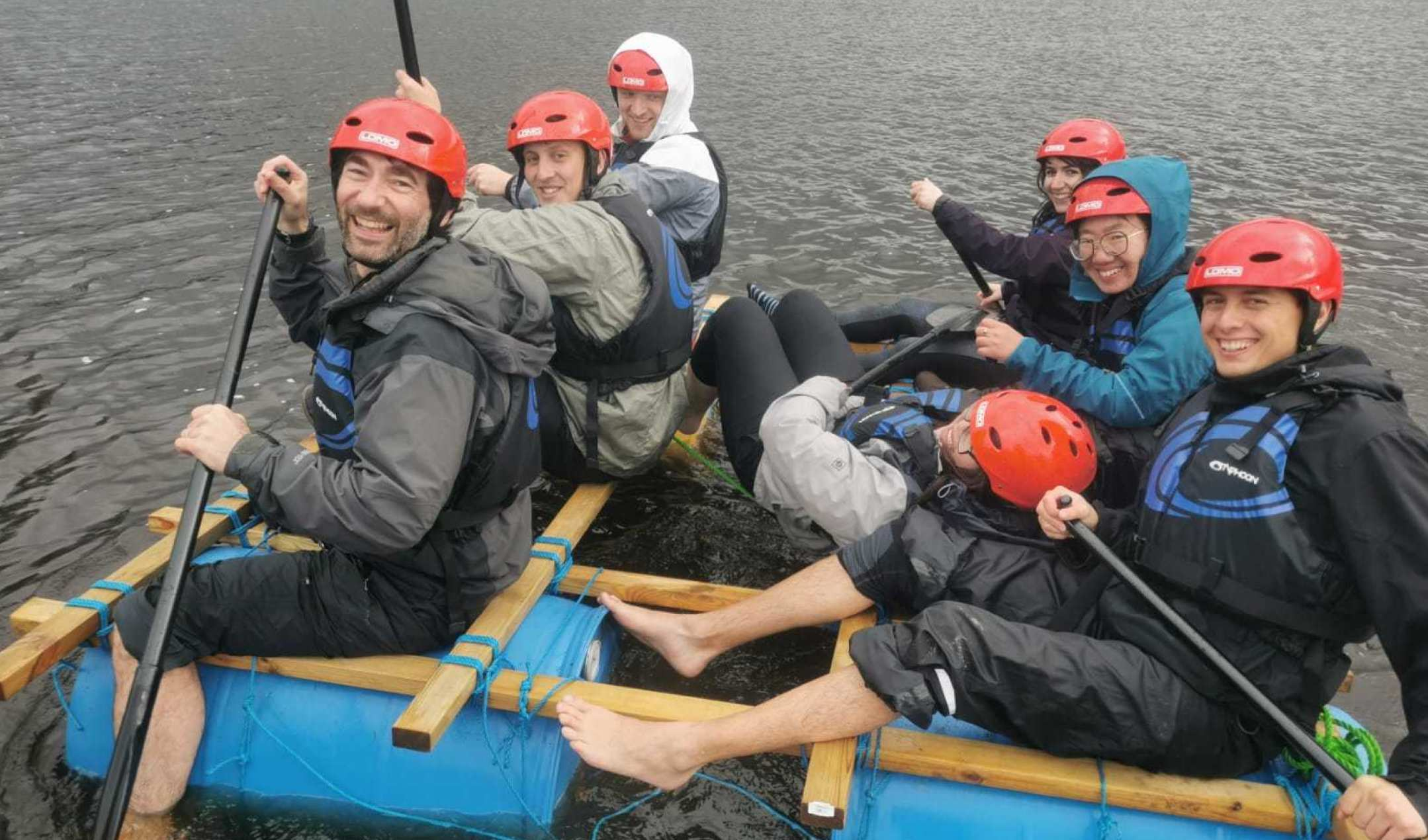 Group on floating raft
