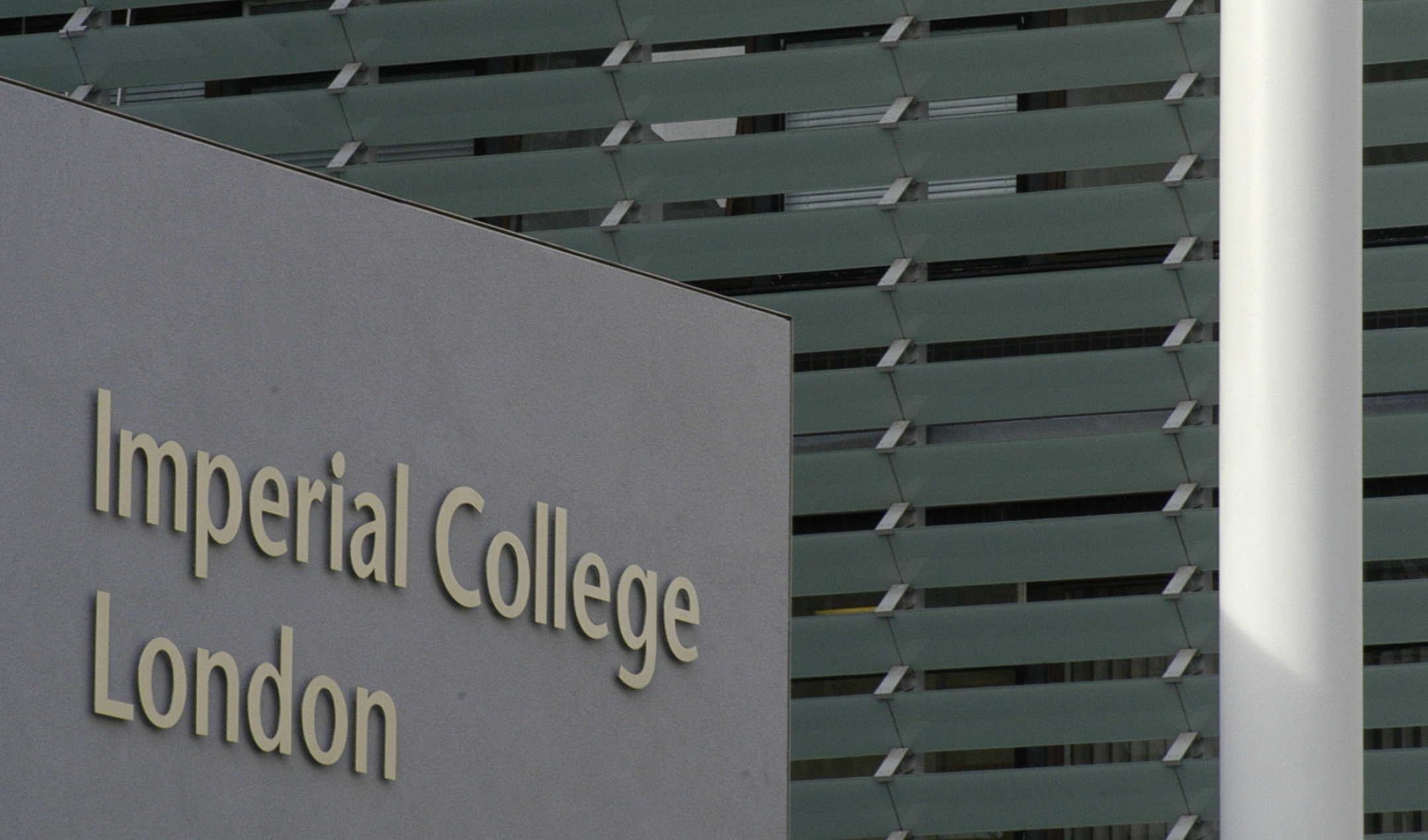 Image of the lettering of Imperial College London