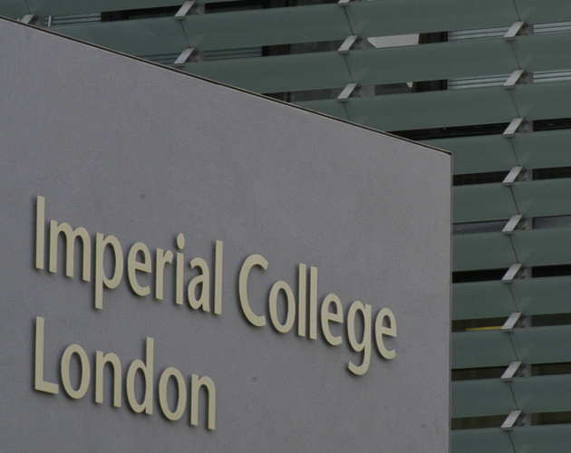 Image of the lettering for Imperial College London