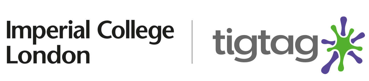 Imperial College Logo next to Tigtag logo