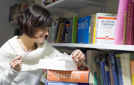 Student in the Language Lab