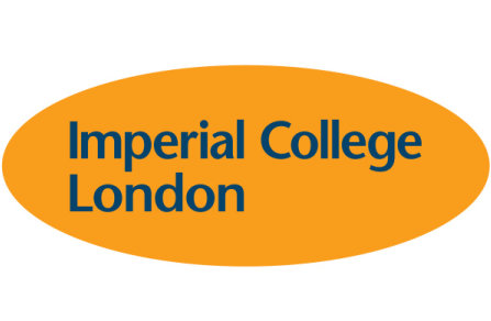 Imperial College London logo in an orange elipse