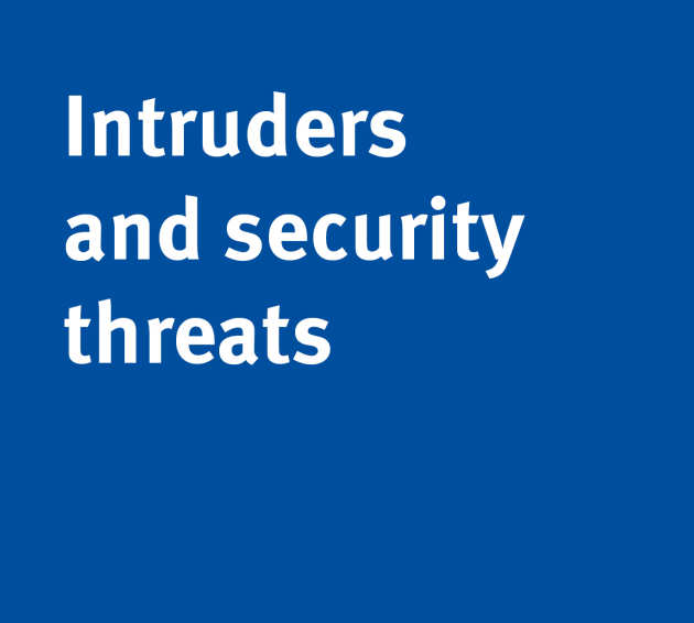 Intruders or security threats