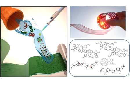 Flexible organic and hybrid solar cells utilising new photoactive materials