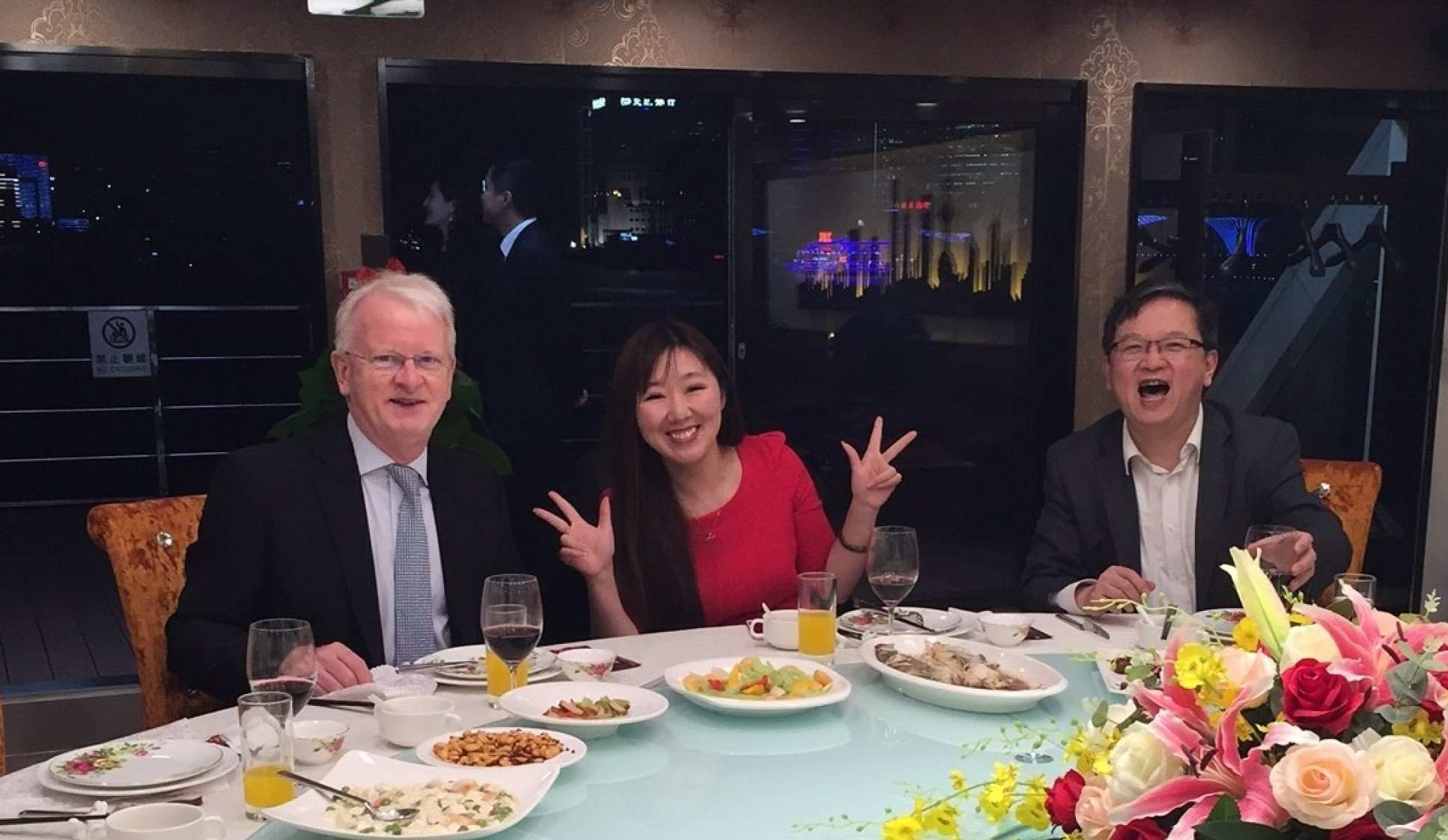 Meeting alumni with Professor Yike Guo (right) in Shanghai