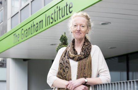 Joanna Haigh in front of the Grantham Institute