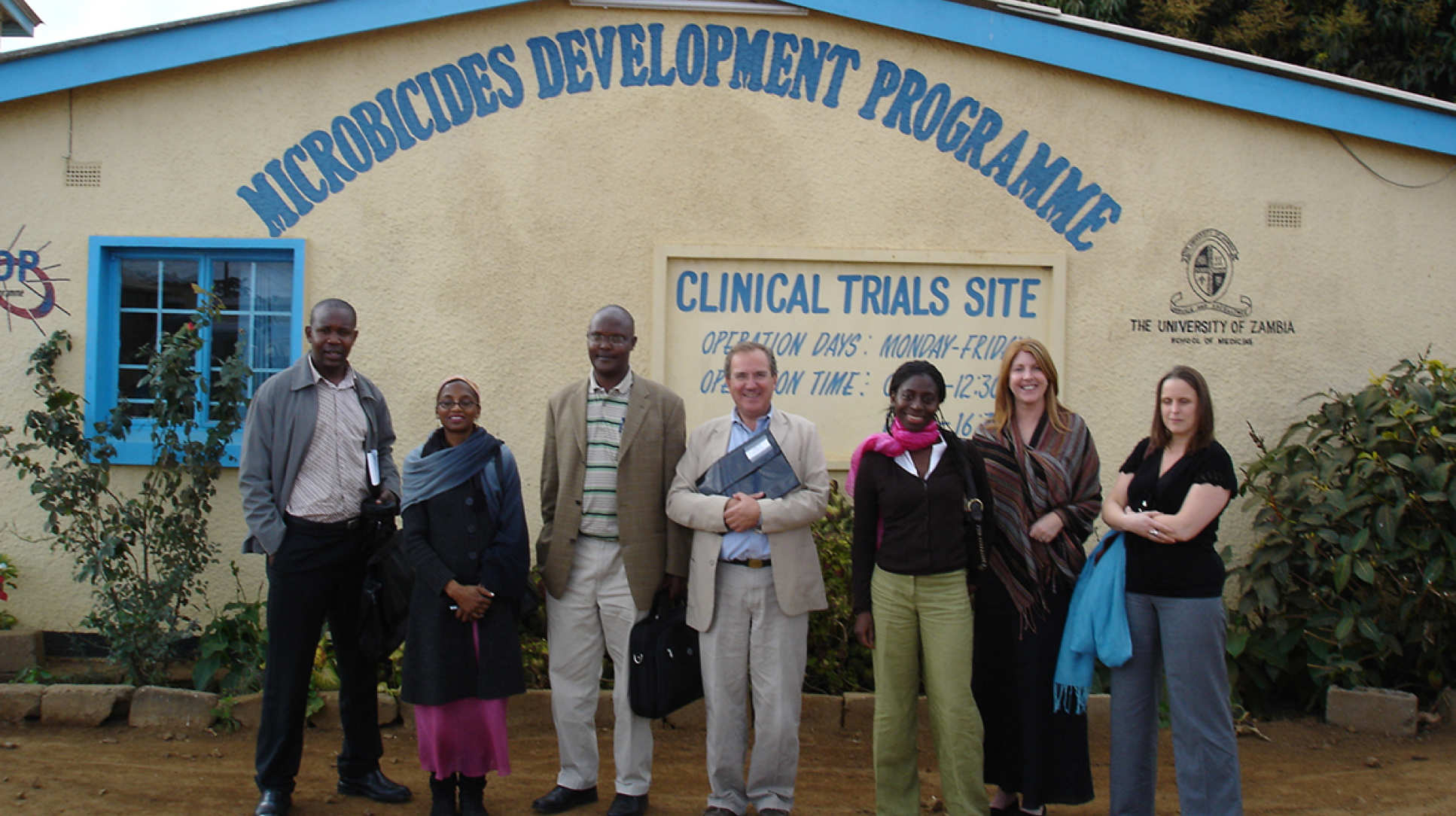 Professor Weber with colleagues at a University of Zambia clinical trials site at Mazabuka in 2006