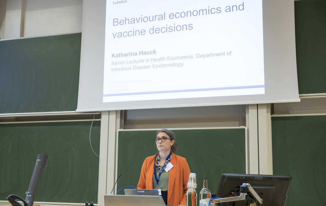 Dr Katharina Hauck on 'Behavioural economics analyses of vaccine decisions'