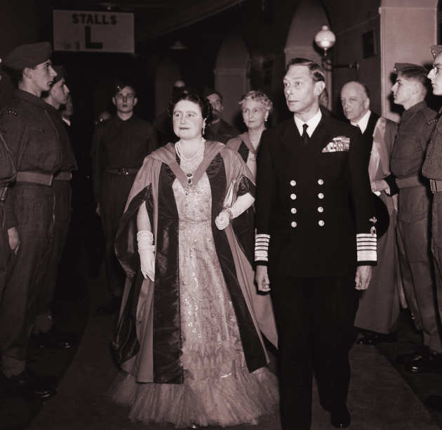 King George VI and Queen Elizabeth visiting Imperial in 1945