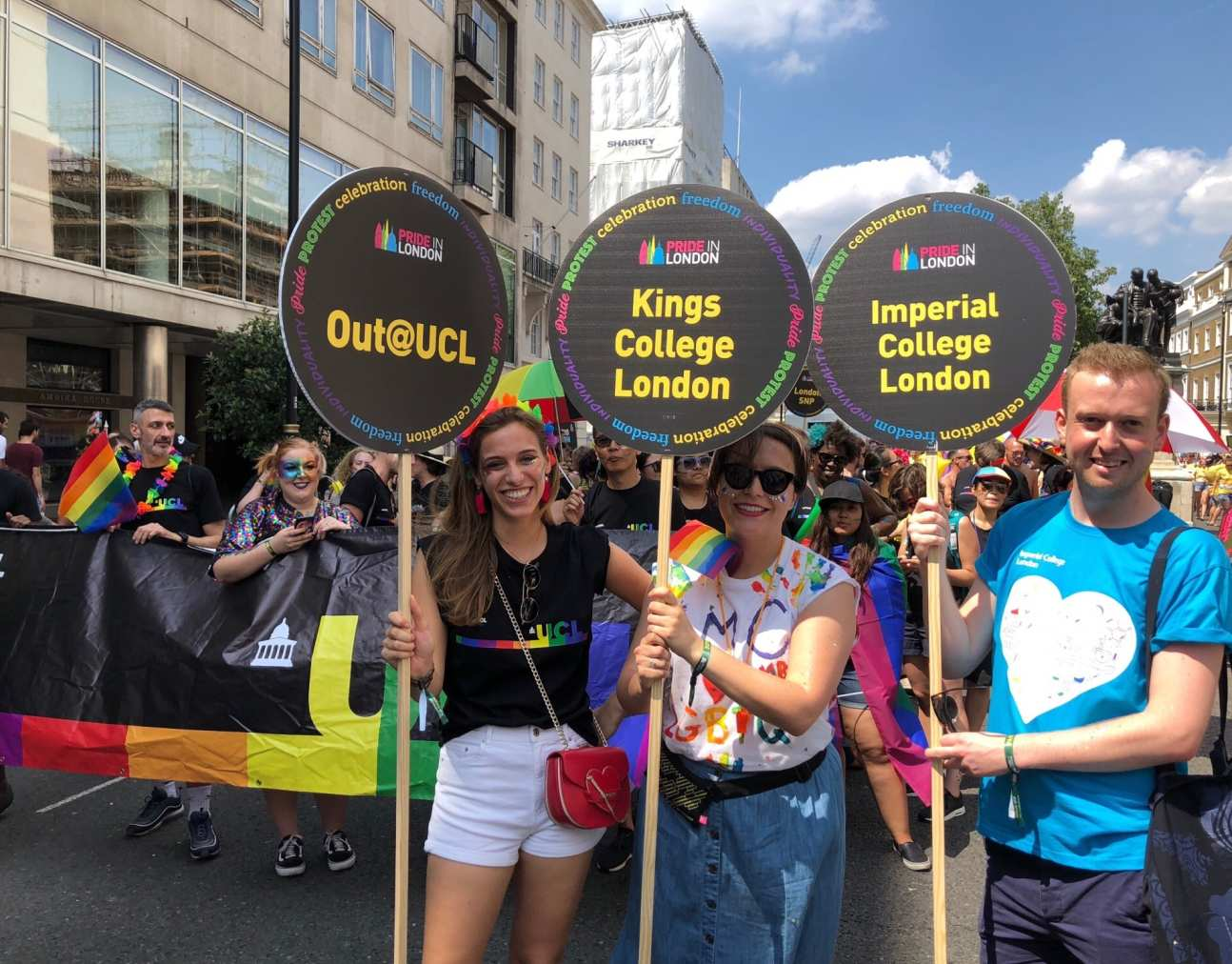 Staff at London Pride