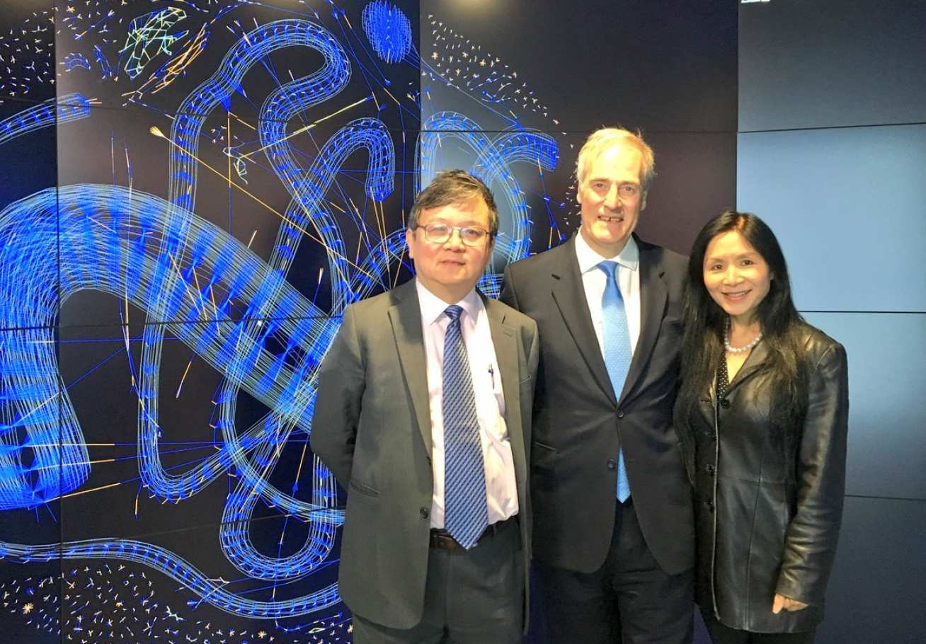 Lord and Lady Bates with Prof Guo