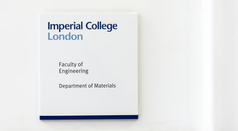 Department of Materials sign