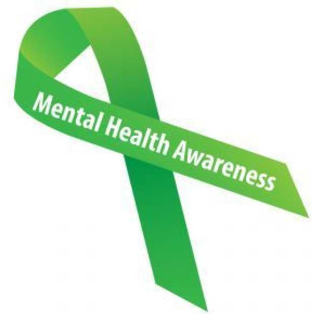 Green ribbon for mental health awareness week