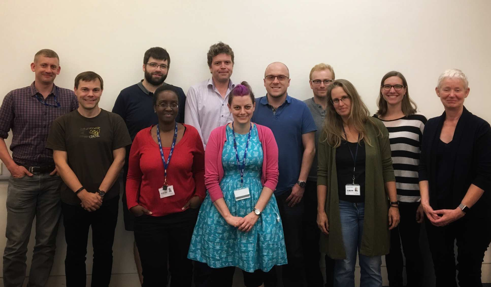 Earth Science and Engineering Staff who completed Mental Health Training pose together for a photo