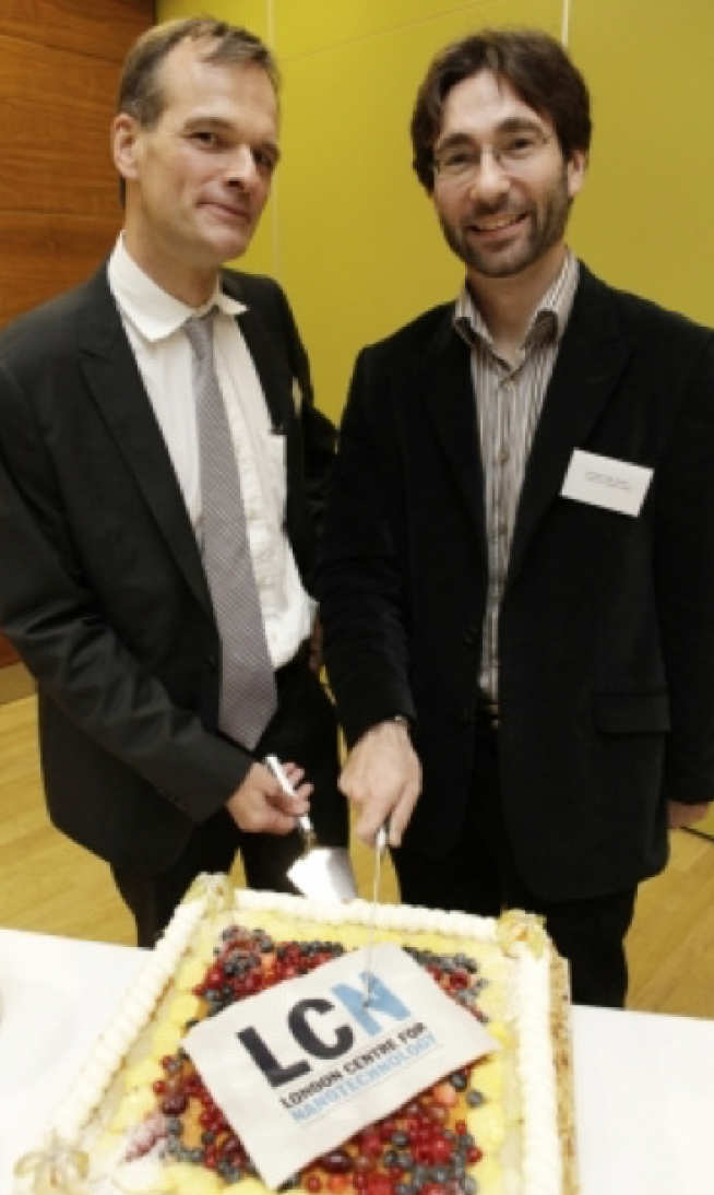 Milo with co founder and at-the-time LCN at UCL co-director, Professor Gabriel Aeppli FRS