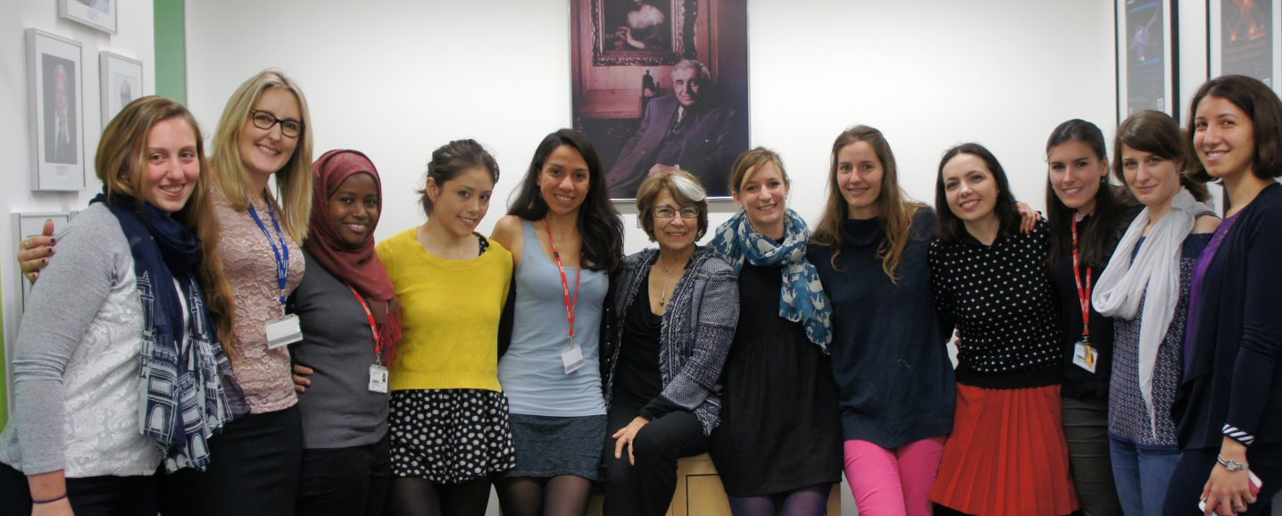 Mina Bissell and PhD students