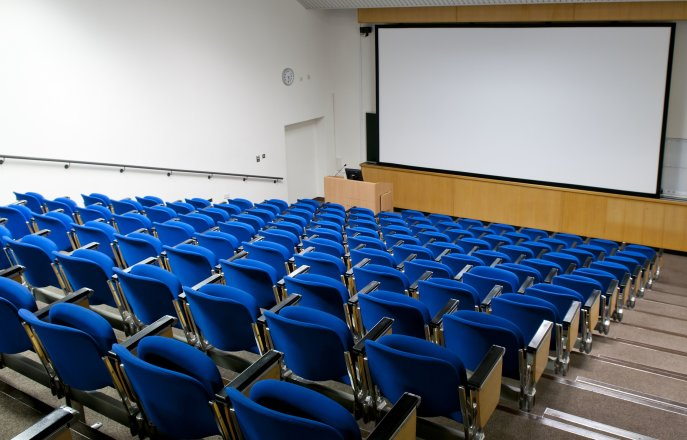 Seats in lecture theatre