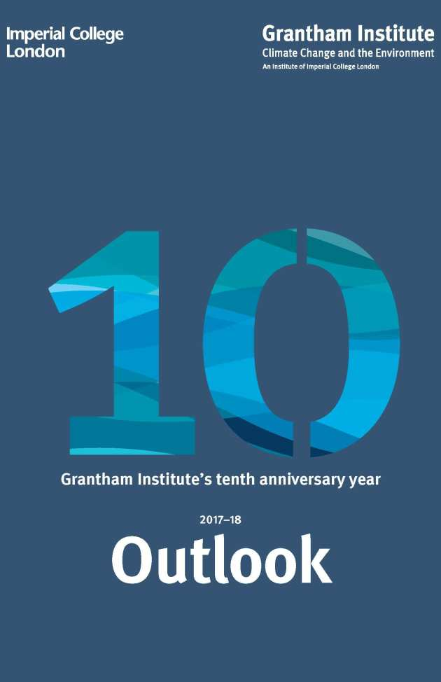 Grantham Institute Outlook cover