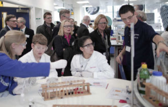 Visitors in the WOHL Reach Out Lab