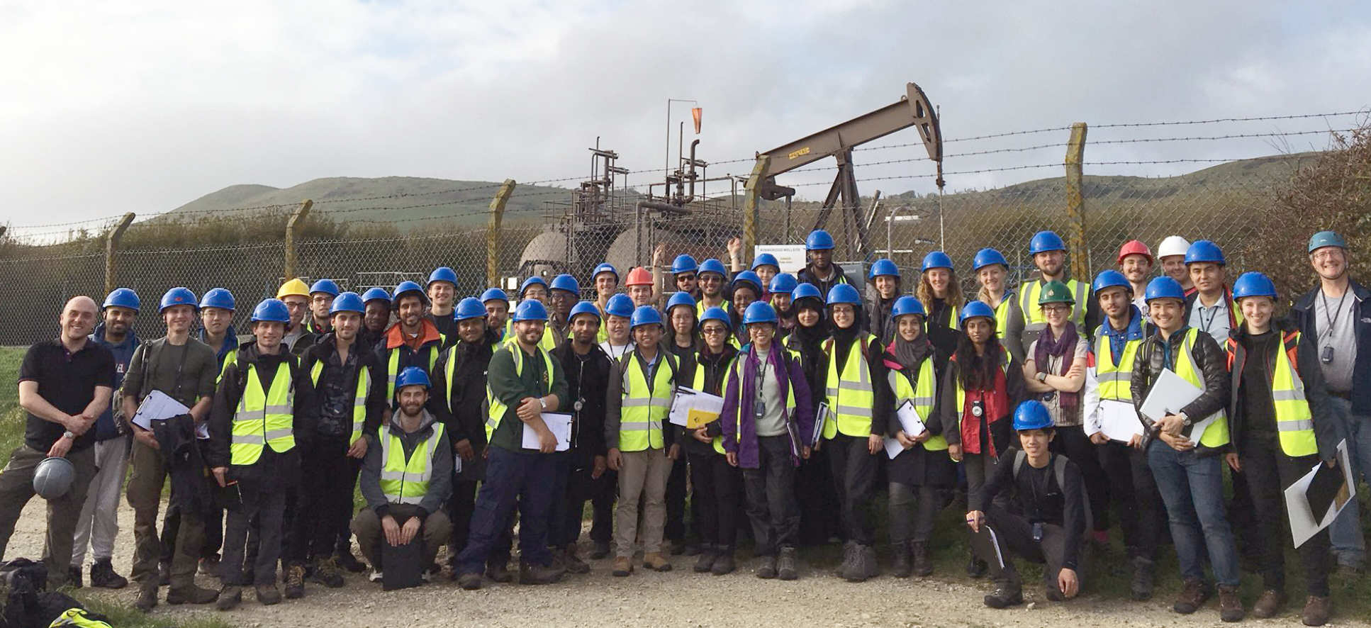 Petroleum Engineering MSc students on field trip at Kim Bay Oil Field