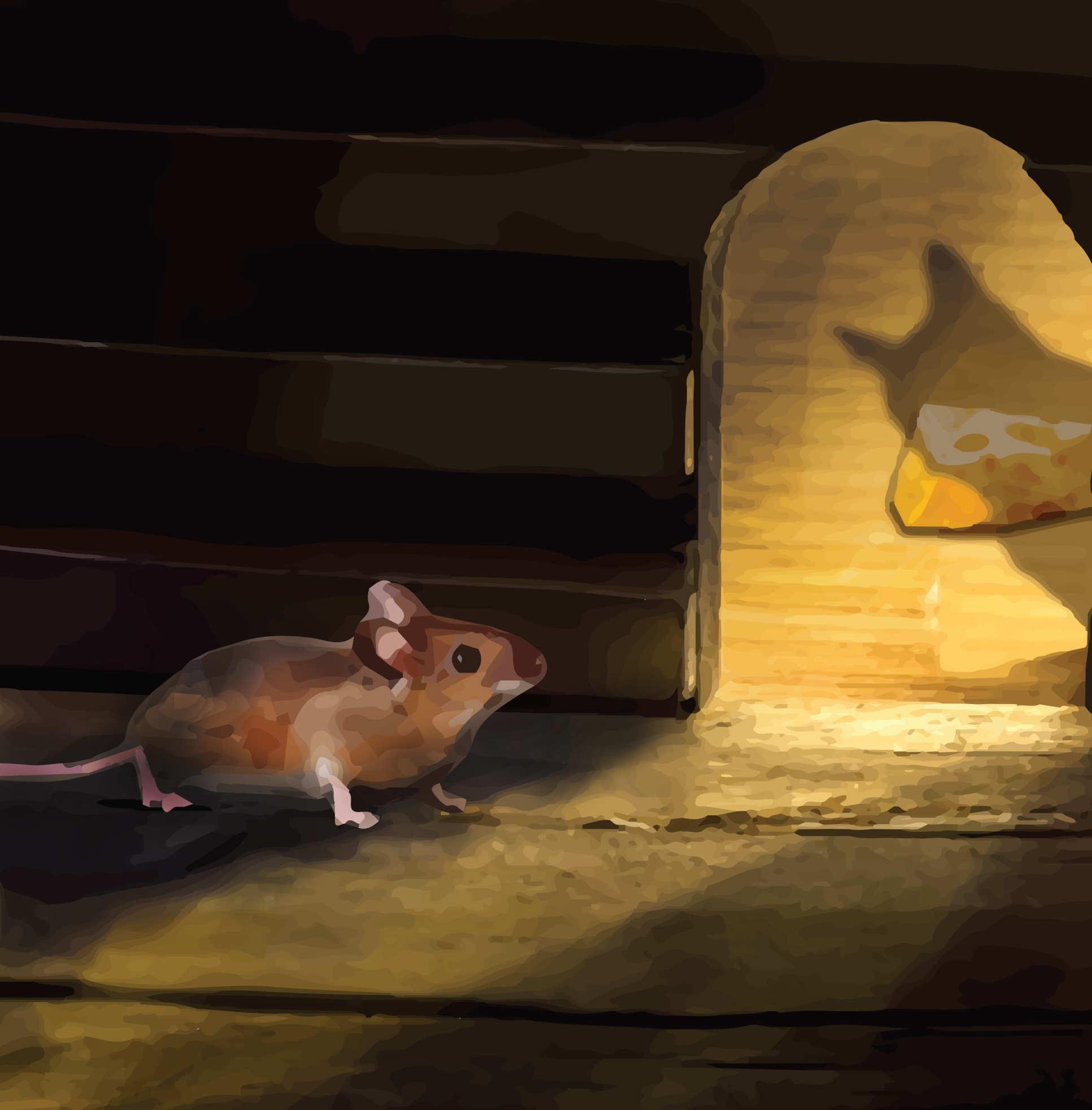 Feed or flee? Mouse studies are revealing how the brain switches from the urge to feed for self-preservation (Credit: Withers lab)