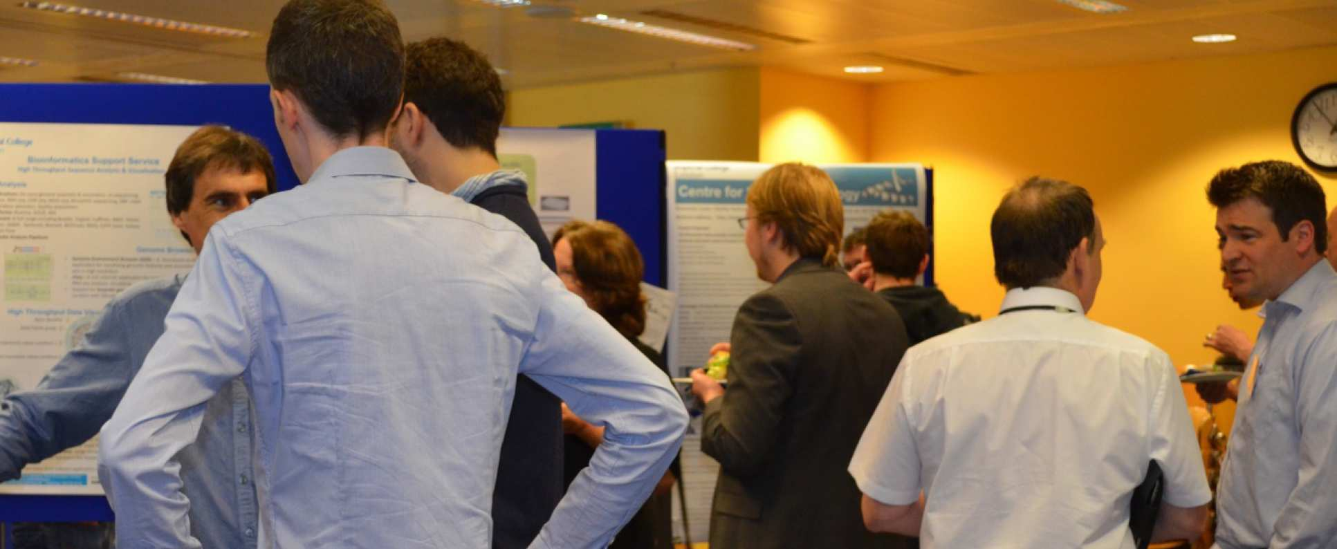 People at the 2012 research facilities showcase