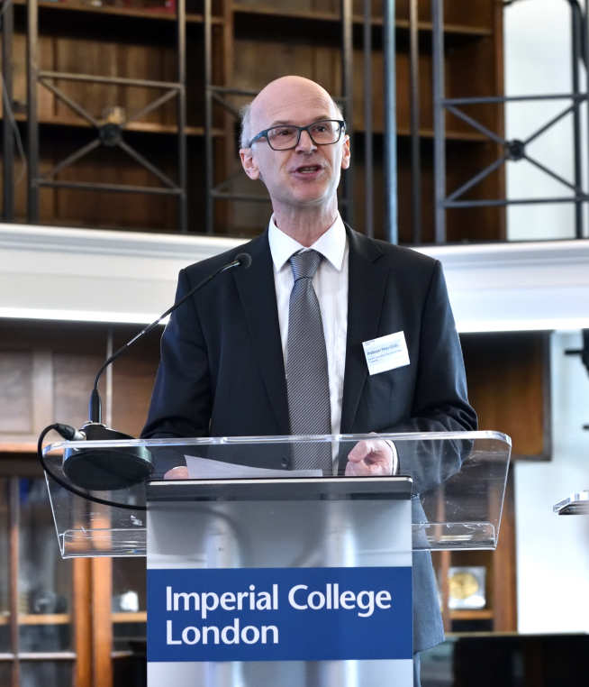 Photo of Professor Peter Childs speaking at the opening