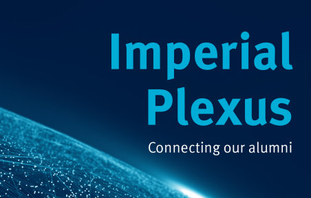 Imperial Plexus imagery with connecting our alumni caption