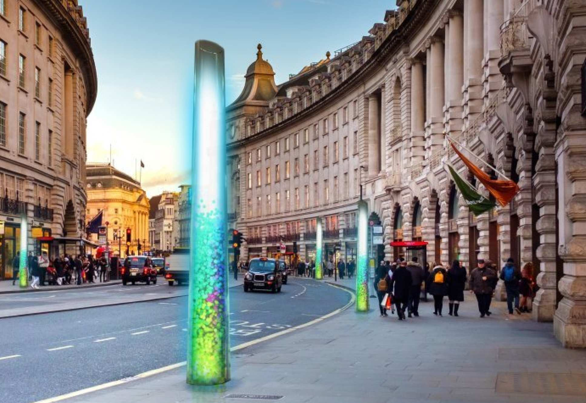 What Pluvo would look like on Regent Street