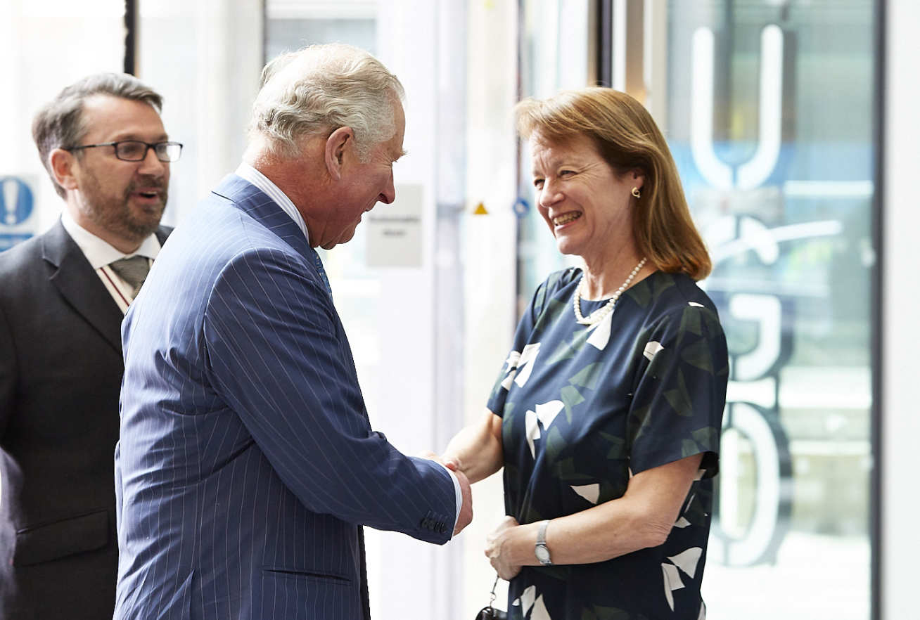 The Prince of Wales and Professor Alice Gast